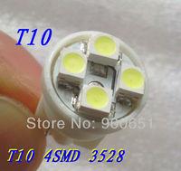 Wholsale 12v LED Light T10 4SMD3528,LED indicator lights White red blue yellow green