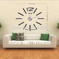 DIY Modern Frameless Large Wall Clock Home Decoration Decor Living Room Big Metal Hours Watch Stickers Creative Design12S003