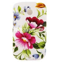 New Fashion Red Elegant Peony Blue Flower Hard Rubber Case Cover Skin For Htc Desire C A320E