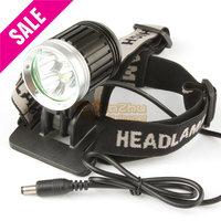 3800 Lumen 3X CREE XML T6 LED Headlight Waterproof Headlamp + 4 Modes Bicycle Light Bike Lamp for Cycling Outdoor Sports