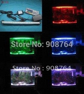 L012# Aquarium lamp plant grow lamp daylight 4*20cm 12 bulbs led  Aquariums lamp+44 keys remote control pad   Free shipping
