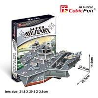 Cubic Fun 3d puzzle paper  jigsaw Charles de Gaulle R91model  diy toys for boys P631H
