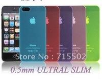 20PCS/LOT, WHOLESALEA MATTE TRANSPARENT 0.5MM ULTRAL SLIM TPU CASE FOR IPHONE 5 5G FREE SHIPPING