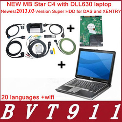 2013 NEW MB Star C4 MB SD connect compact 4 with WIFI,Star c4 Diagnostic+newest 2013.03 version Super HDD DAS/XENTRY+D630 laptop(China (Mainland))