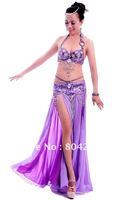 Belly Dance Costume set VENUS 3 pics Bra&Belt&Skirt 34B/C 36B/C 38B/C 40B/C 13 colours