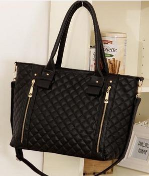 2014 New Fashion Lady vintage OL women's PU Leather handbag messenger bag Shoulder bag Hobo zipper Tote Free Shipping NB0073