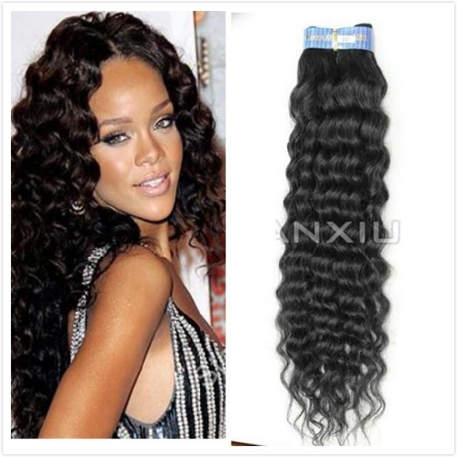 "New Arrival Spiral Curl Weave 12""-30"" Brazilian Virgin Hair human hair ..."