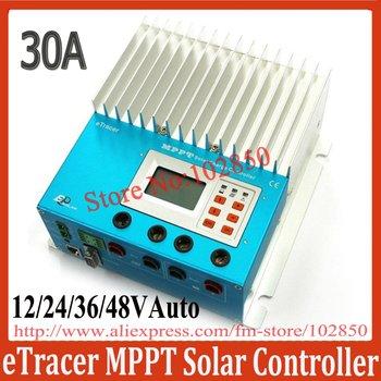 2012New Arrival 30A 12/24/36/48V auto work ET3415 MPPT solar charge regulator,eTracer solar controller