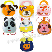 14PCS/LOT.DIY felt kids handbag craft kits,Kids bag,Creative hobby,DIY felt bag,13x14.5cm,free shipping
