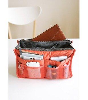 free shipping 6 color export  Quality Mp3 Phone Cosmetic Storage Organizer 100% Nylon dual zipper Bag In Bag Handbag 1pc 4.22$