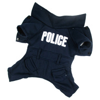HOT SELLING high quality police uniform design winter dog clothes style pet clothes,dog costume(PTS056)