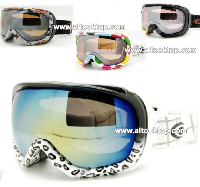 Free shipping 2014 leopard snow ski goggles double lens winter anti-ultraviolet& fog skiing glasses Men Women Snowboard googles(China (Mainland))