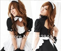Free shippin Lolita princess loaded cosplay black-and-white maid lourie princess dress costume