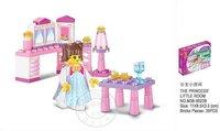Holiday Sales christmas Enlighten Child B0238 educational blocks SLUBAN Princess Room building block sets,diy toys free Shipping