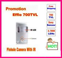 """Genuine 1/3""""Sony 700TVLine Effio-e with OSD Menu Detecter Pinhole Hidden Infrared CCTV Camera free shipping !!! ,"""