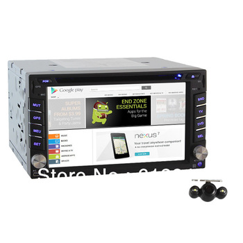 Hot Sale 2 Din In Dash Car Radio CD DVD Player 1Ghz Android 4.0 +3G+ WiFi +GPS+PIP+Free Backup Camera