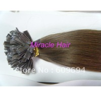 """20"""" 1g/s100g 6# ITALIAN Keratin pre bonded flat tip hair extensions 100% Indian Remy Human Hair HIGH QUALITY"""
