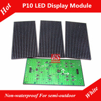 P10 White Color Semi-outdoor LED Window Screen Panel  Module Super Brightness factory price Shenzhen 50pcs/lot Free Shipping DHL