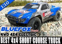 [YOUTUBE] New BLUEFOX REDFOX 1/10 4WD RC Electric truck Short Course Truck 4x4 4WD Off Road Truck  RTR