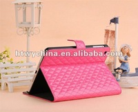 10pcs X  Newest Folio PU Patent Leather Case Cover With Stand case for ipad mini Free Shipping