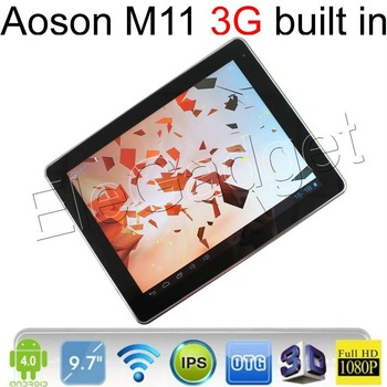 "3G tablet PC Original AOSON M11 RK3066 Dual Core tablet PC 9.7"" IPS Capacitive 1G/16G Bluetooth HDMI 3G sim card slot W2270G"