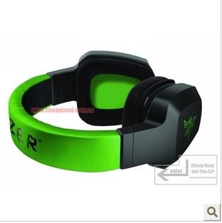 Gaming Headset Razer Electra Expert Gaming Headphones Headband Overear Black Green PC Computer Dota 2 Consumer
