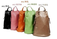 2013Bag mailKorean version of the backpack of school bags  fashion leisure bag pu leather handbags candy bags