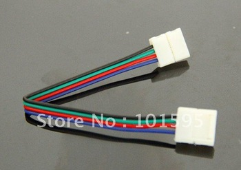 FREE SHIPPING 10pcs/lot LED PCB Connector Adapter For 5050RGB LED Strip 10mm Width 2 Connector