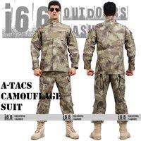 Free shipping A-TACS Camouflage suit sets BDU Military Combat Uniform CS Training Uniform Garment sets Shirt + Pants(AU-12016)
