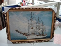 Free shipping small size wall gobelin tapestries,nautical style decorative wall picture