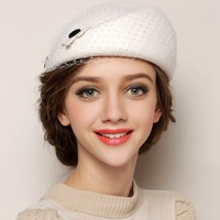 Wholesale women church popular bowknot 100% wool felt hats