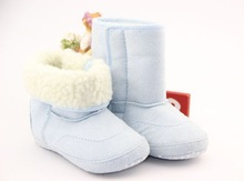 Hot Selling 1 Piece Retail Baby Snow Boots Solid Color Windproof First Walkers Thermal Kids' Shoes Winter Snow Footwear(China (Mainland))