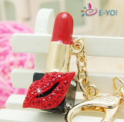 Farben mode kuss lippenstift sterne schlüsselbund