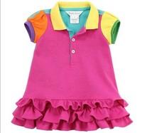 New free shipping, girls dresses, girls summer dresses, girls sports suit, 2T-7T,1pcs/lot--JYS64
