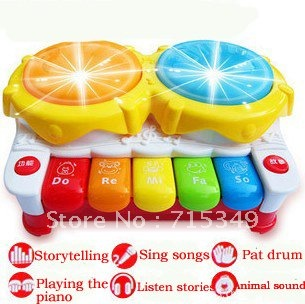 The3C new children electric hand beat drum baby Keyboard, the story piano puzzle music toys