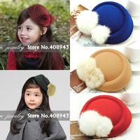 2015 New fashion 10color Girl/Woman fascinator hats Woolen Rabbit Fur hairpin/hair clips Cocktail bridal hair accessories H5821