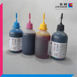 LIVE COLOR 4*100ML CMYK inkjet refill dye ink for all HP desktop printers universal for HP10 11 88 81 82 etc. refill cheap inks(China (Mainland))