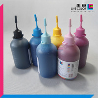 LIVE COLOR 6*100ML CMYKLCLM inkjet refill pigment ink for all Epson desktop printers, as: For R230 R270 R290 T50 T1100 TX125