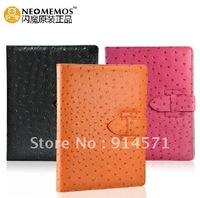 Free shipping leather case for iPad2 new iPad 3  ipad case