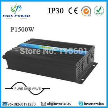 Solar Inverter/Car Inverter/Home Inverter DC 12V 24V 48V to AC 100V~120V/220V~240V 1500W Pure Sine Wave Power Inverter
