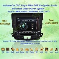 2006- 2011 Mitsubishi Outlander GPS Navigation DVD Player ,TV,Multimedia Video Player system+Free GPS map+Free shipping!!!