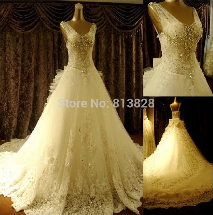 2014 plus size funkelnden kristall brautkleid sexy Luxus big train hochzeitskleid 2014 braut brautkleid vestido de novia