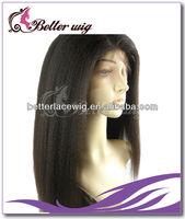 Factory wholesale italian yaki  Brazilian virgin hair full lace wig