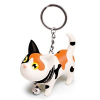 Fashion good quality keychains Couple keychain Cat key chain five colors 6*4cm  Free shipping