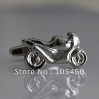 Motorcycle Crotch Rocket Wedding Groom Sport Bikes Dad Wedding Groom Men Party Business Silver Cufflinks Shirt Suit Cuff Links