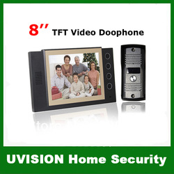 Home Security 8 inch LCD Video Door Phone Doorbell Intercom Video System free shipping(China (Mainland))