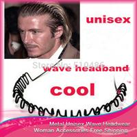 Free Shiping 10PC/LOT Fashion Wave Headwear Headbands For Men Women's Hair Accessories Ornament Design