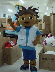 Diego the explorer adult costume love expeditionary Diego mascot costume plush cartoon role playing clothing polyfoam head(China (Mainland))