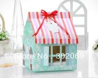 Free shipping PVC window Four Cupcake box House style  BF162