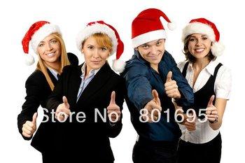 Free china post 30*40cm christmas cap santa claus hat christmas decoration supplies hat